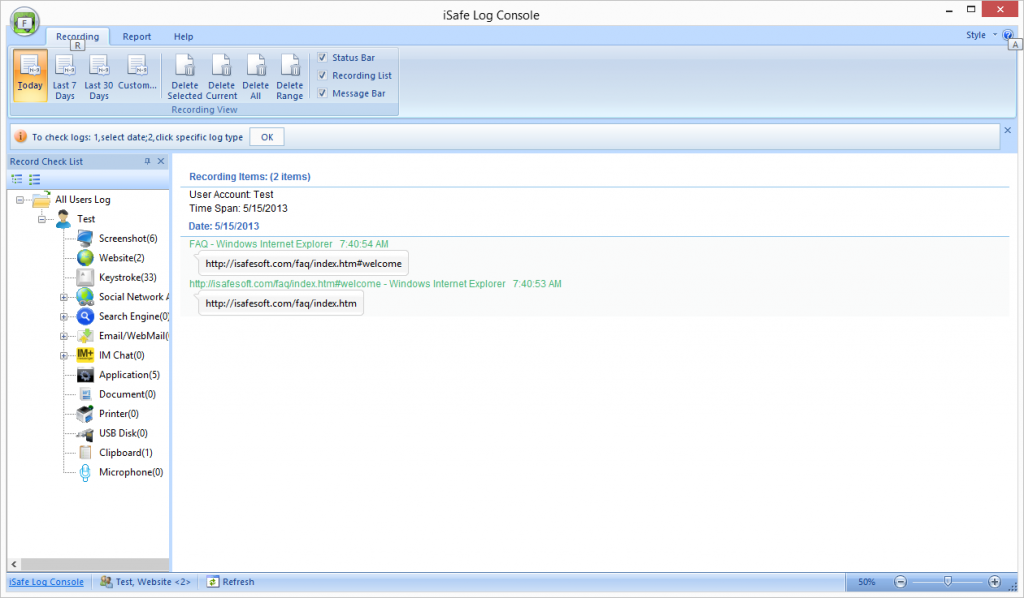 ... and reviews > iSafe AllInOne Keylogger 2014 Pro 6.2.5 > Screenshots